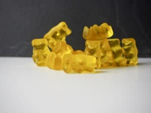 Gelbe Gummibärchen von HARIBO