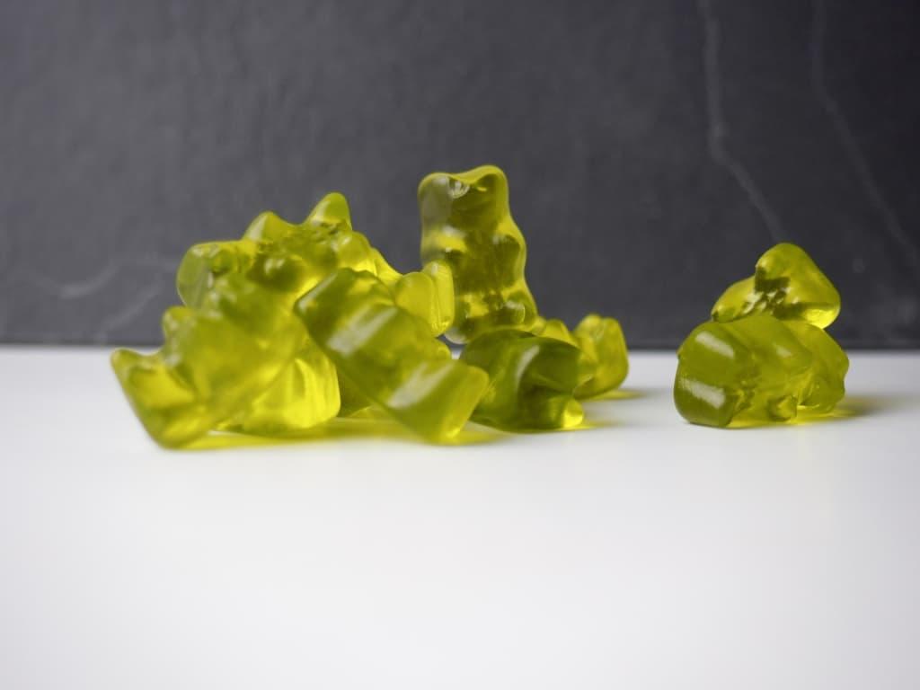 Grüne Gummibärchen von Haribo