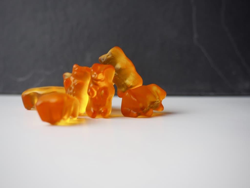Orange Gummibärchen von Haribo